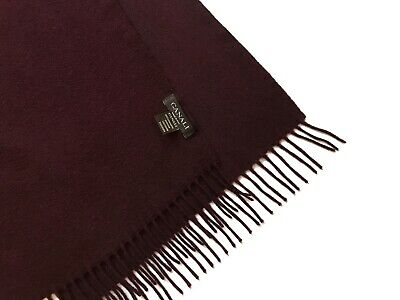 $70 • Buy CANALI 100% Cashmere Scarf Burgundy Color Made In Italy