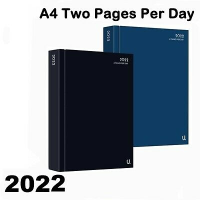 £2.49 • Buy TWO FULL Pages A Day 2022 Diary A4 A5 Hard Back Or Week To View Office Student