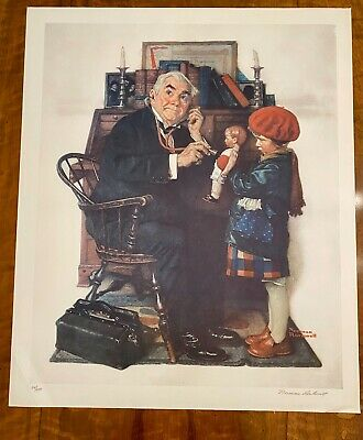 $ CDN3134.74 • Buy Norman Rockwell  Doctor And Doll  Limited Edition Artwork, Signed And Numbered!