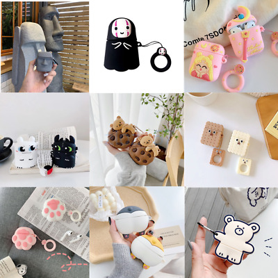 AU17 • Buy 3D Cute Cartoon Silicone Charging Case Skin Protective Cover For AirPods 1/2 Pro