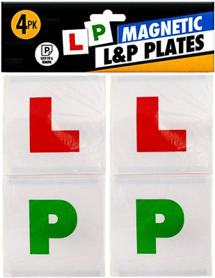 £2.79 • Buy X4 Magnetic Learner Plates -  X2 L Plates + X2 Pass P Plates - Legal Size