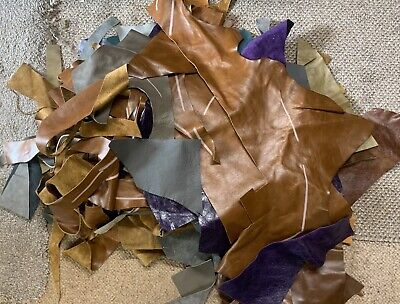 £8.50 • Buy 4kg Upholstery Quality Leather Remnants-Pieces-Odments-Crafts-Off Cuts-Scrap