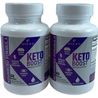 $18.90 • Buy 2x MIX RX Keto Boost Diet Weight Loss Ketosis Advanced Formula 60ct Exp 10/2021