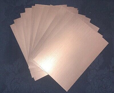 £2.85 • Buy SMALL SIZE/ Metallic Linen Card - 12 Sheets-A6/C6 / Rose Gold / DEFECTS