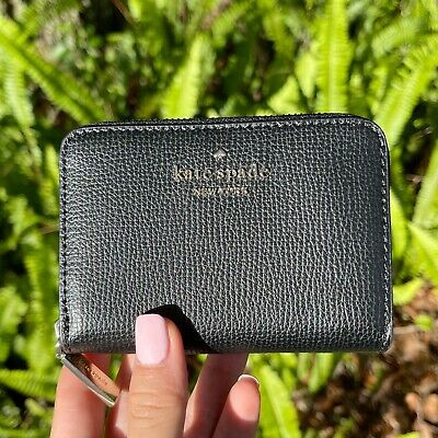 $ CDN75.52 • Buy Kate Spade Darcy Small Zip Card Case Coin Wallet Black Leather