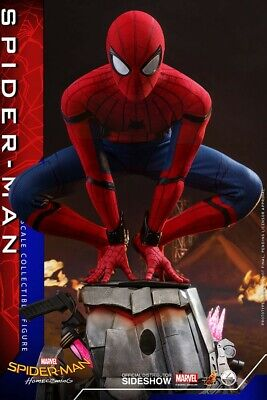 $ CDN667.18 • Buy Spider-Man: Homecoming Quarter Scale 1/4 Hot Toys Sideshow Figure Tom Holland