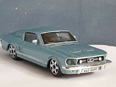 £7.89 • Buy Personalised Ford Mustang Gt 1964 Blue 1.43 Diecast Model Car Present Gift New