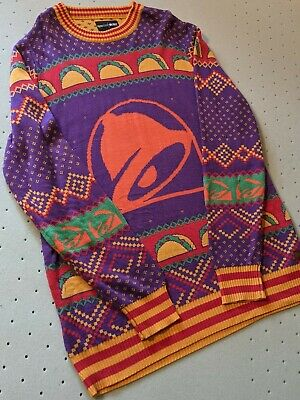 $125 • Buy RARE Men's Tipsy Elves Taco Bell 🔔 Ugly Christmas Sweater 🌲 XXL 2XL Fast Food