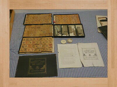 $35 • Buy , Chinese Game Mah Jong HILLSON'S CHINESE GAME KNOW AS CHEVUK WOOD PIECES & MORE