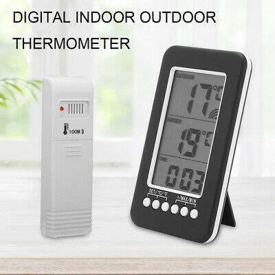 £11.59 • Buy Digital LCD Wireless Indoor Outdoor Thermo-Hygrometer Thermometer Humidity Meter