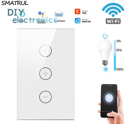 AU30.99 • Buy WIFI Smart Dimmer Light Switch Wall Timing Touch Panel For Alexa Google Home AU