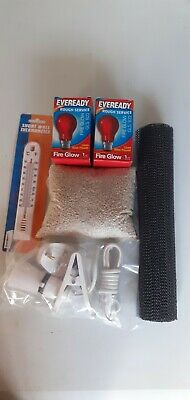 £13.95 • Buy Brooder Kit Heat Lamp Chick Food Anti-Slip Mat And Thermometer . Set