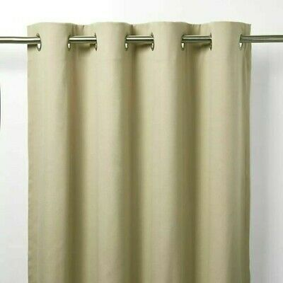 £14.99 • Buy B&Q Taowa Beige/Putty Plain Unlined Single Ring Top Eyelet Curtain Panel X1