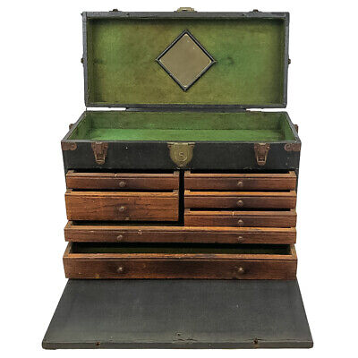$275.99 • Buy Antique Star National Tool Chest Machinist Box Green Felt Lined Wood Leatherette