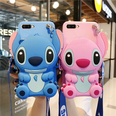 AU7.99 • Buy For OPPO Case Cover 3D Cute Cartoon Stitch Handmade Silicon Card Package Wallet