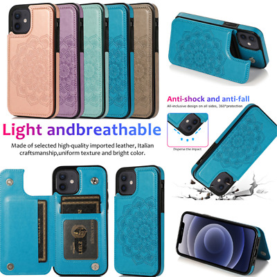 AU15.99 • Buy For IPhone 12 11 Pro Max SE XS XR 7 8 Leather Flip Wallet Card Holder Case Cover