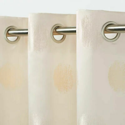 £11.99 • Buy B&Q Kolla Cream-Natural-Beige Spotted Eyelet Curtain Single Panel X1