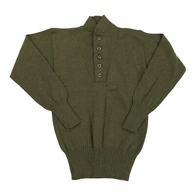$39.99 • Buy Vintage Mitts Nitts Military Issue Wool 5 Button Mock Henley Sweater Mens Medium