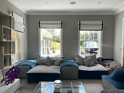 £3000 • Buy Modular Sofa Used, Blue And Grey, Large, Great Condition