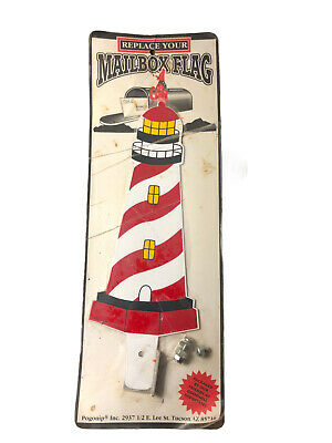 $25 • Buy Vintage Pogonip Lighthouse Metal Mailbox Replacement Flag - Brand New!