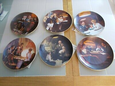 $ CDN18.88 • Buy  Set Of 6 Norman Rockwell Light Campaign Series Collector Plates  COA-Knowles