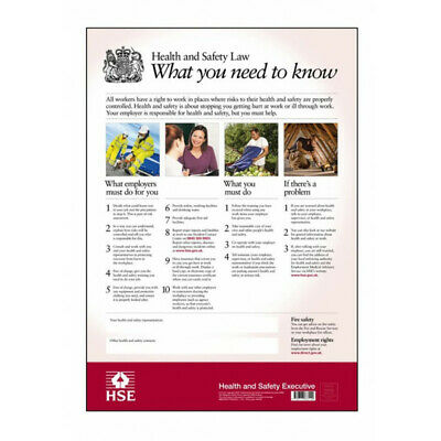 £18.35 • Buy Health And Safety Law Poster A3 FHSEA3 HSE Genuine Top Quality Product New
