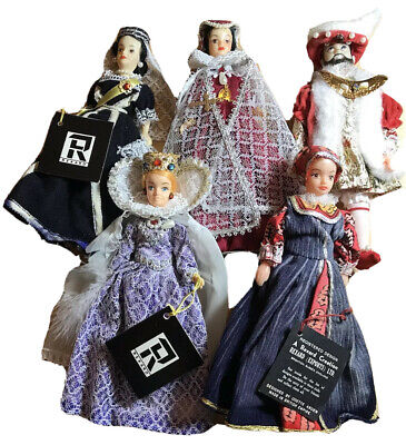 £149.50 • Buy Vintage 60's 5x Rexard Dolls Bundle. King Henry VIII + Queens. Boxed. Pre Owned