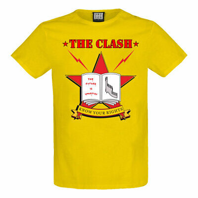 £18.95 • Buy Amplified The Clash Know Your Rights Yellow T-shirt