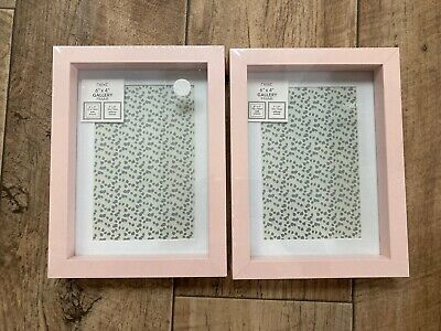 £6.50 • Buy Brand New Next Pair Of Pink Gallery Free-standing Photo Frames Size 6  X 4