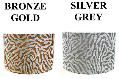 £14.99 • Buy Zebra Style GOLD/SILVER  Cotton Lampshade,Ceiling , Table