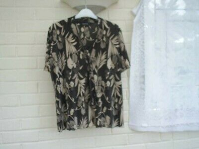 £2.25 • Buy Ladies Short Sleeved Top By FOREVER Michael Gold Top Size L UK (16) (USED)