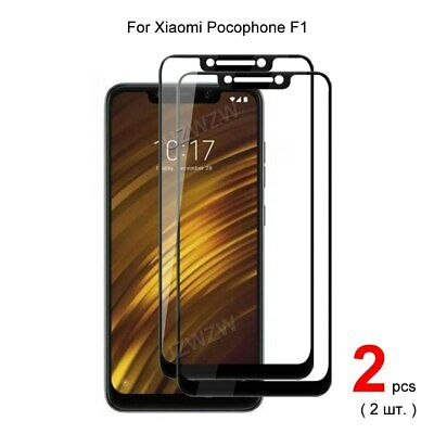 AU6.18 • Buy 2PCS Full Cover Tempered Glass Film Screen Protector For Xiaomi POCOPHONE F1