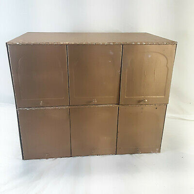 $59.95 • Buy Vintage Metal Six Slot Mailbox With Doors Front Loading Mail Box