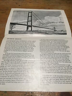 £5 • Buy Old 3 Fold Leaflet Humber Bridge By Expedite Graphic Diagram Photos Etc Vg Cond