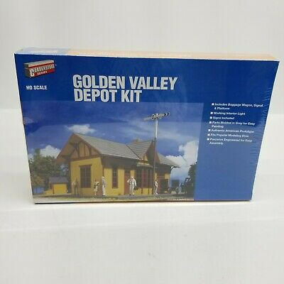 $ CDN37.30 • Buy WALTHERS CORNERSTONE Series HO SCALE GOLDEN VALLEY DEPOT KIT 933-3532 Trains