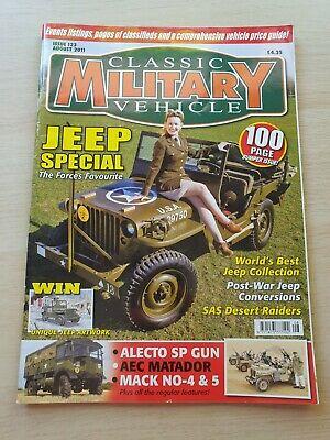 £8.99 • Buy Classic Military Vehicle Magazine Issue 123 August 2011 Jeep Special 100 Pages