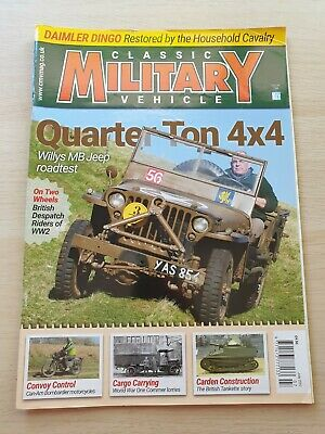 £8.99 • Buy Classic Military Vehicle Magazine Issue 194 July 2017 Willys MB Jeep 4x4