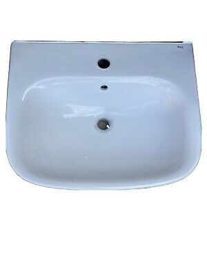 £23.90 • Buy Roca Basin And Full Pedestal, 450mm Wide, 1 Tap Hole. No Taps.