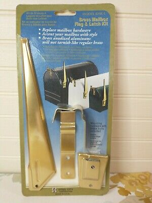 $19.95 • Buy Vtg Steel City Mailbox Flag & Latch Kit Replacement Brass NOS (Missing Hardware)