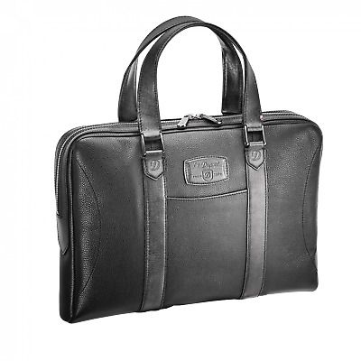 $389 • Buy S.T. Dupont Line D Leather Document / Laptop Holder, Black, 181254, New In Box