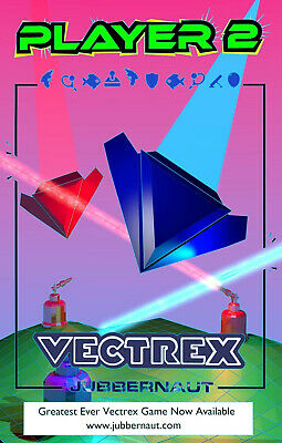£56 • Buy Vectrex Game PLAYER 2 - Brand New - Personalised Cart - 10+ Games On The Cart