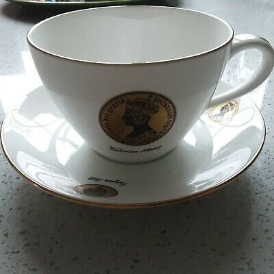 £9.99 • Buy Crown Staffordshire Queensbury China Jumbo Cup & Saucer Queens Celebration