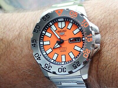 $ CDN373.90 • Buy SEIKO Orange Baby Monster Automatic /Hand Winding Day/Day SRP483K1 Boxed Mint