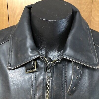 $69.99 • Buy Tommy Hilfiger Faux Leather Bomber Jacket Mens XL Coat Distressed Dark Brown EUC