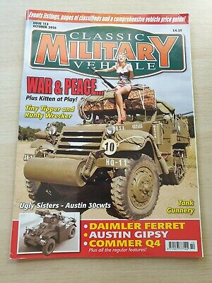 £8.99 • Buy Classic Military Vehicle Magazine Issue 113 October 2010 Austin 30cwts Gipsy