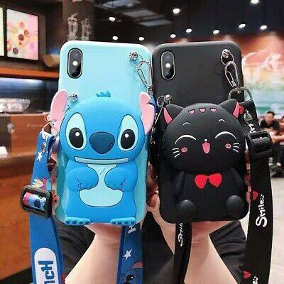 AU9.25 • Buy For OPPO Case Cover 3D Cute Cartoon Animal Handmade Silicon Card Package Wallet