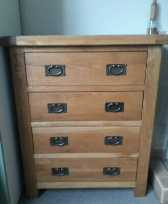 £175 • Buy Rustic Oak Chest Of Drawers, Lovely Condition - Please Pay Cash On Collection