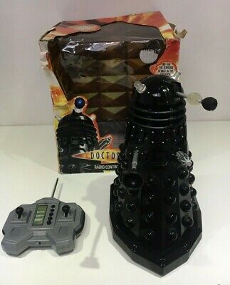 """£89.99 • Buy Boxed 12"""" Working Dr Who Remote Control Black Dalek Toy Rc Lights Sounds Z82"""