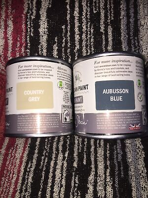 £22.59 • Buy Annie Sloan -  Country Grey & Aubusson Blue Chalk Paint- Project Tin- 120ml Each