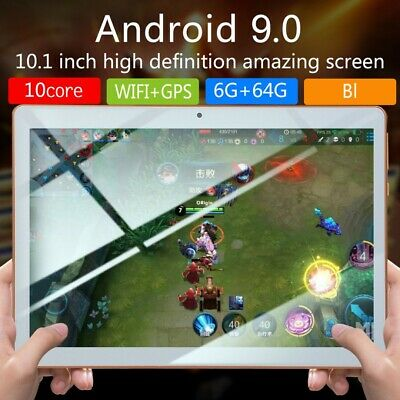 AU93.65 • Buy 10.1inch Tablet PC HD Android OS 9.0 6+64GB 10-Core GPS WIFI Dual Camera Phablet